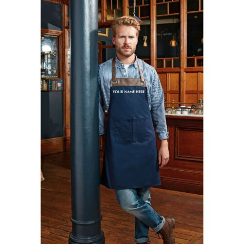 Name//Logo Hospitality Pub Restaurant Bar Personalised PR123 Espresso Bib Apron