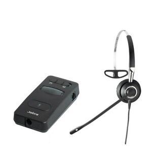 Jabra-BiZ-2400-Mono-Headband-Phone-QD-Headset-Jabra-Link-850-Amplifier-TESTED