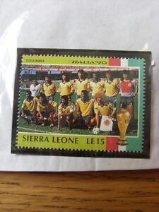 1990-World-Cup-Stamp-Sierra-Leone-Columbia-Team