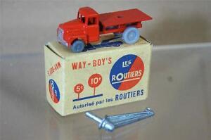 Way-boys Les Routiers No 4 Midget Toys Co Citroen Camion De Depannage Type 3 Ozc