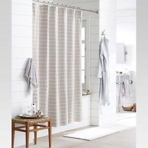 Image Is Loading Threshold Light Gray Tan Tones White Stripe Shower