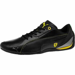 d9700b7a0c66 NEW  MENS PUMA DRIFT CAT 5 SF NM LEATHER SHOES BLACK YELLOW 304946 ...