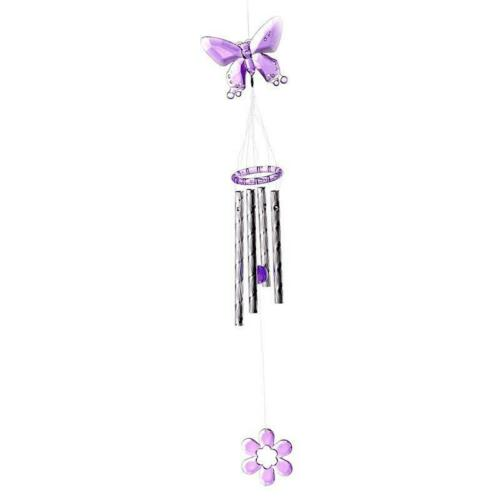 Garden Wind Chime Home Decor Butterfly Yard Ornament Outdoor Small Safe Smooth
