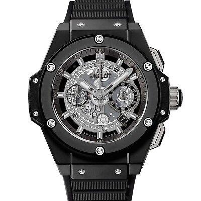 NEW Hublot King Power Unico Black Magic 48mm Ceramic Mens Watch 701.CI.0170.RX