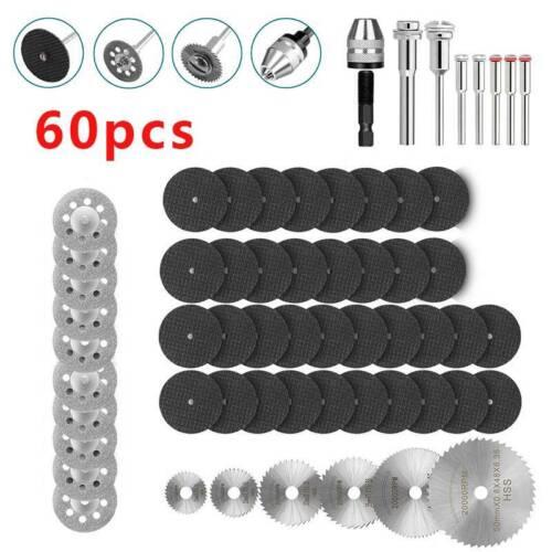 60pcs Mini Diamond Cutting Discs Wheel Tool Set Drill Bit For Rotary Saw Tool