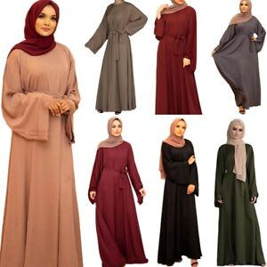 Details about  /Women Muslim Kaftan Maxi Dress Islamic Abaya Cocktail Party Vintage Robe Gown
