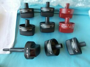 Wolf Dual Fuel Range 9 KNOB SET 7 Black 2 Red gas stove 8 are Metal 1 is Plastic
