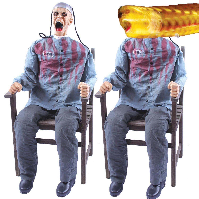 Les adultes Death Row Life Taille Prop électrocutent secousses 3D Halloween Décoration