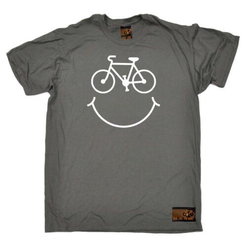 Cyclisme T-Shirt Drôle Nouveauté Homme tee tshirt-Cycle sourire