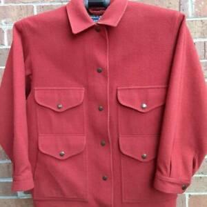 Polo Sport Ralph Lauren Womens Jacket Coat Red Snap Buttons Wool Flap Pockets M