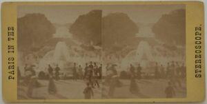 Château E Parc Da Versailles Parigi Francia Foto Stereo Albumina c1865