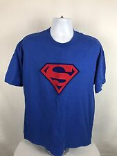 Rare VTG 2001 Warner Bros. Superman Short Sleeve Embroidered T-Shirt Size XL