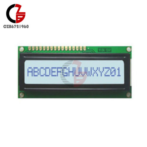 1601 LCD 16X1 White Character LCD Display Module LCM STN SPLC780D KS0066