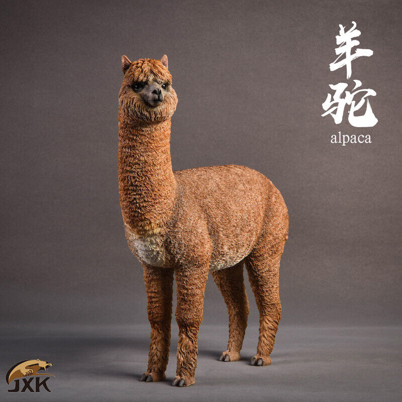 1 6 jxk. Studio Jxk011A Alpaca hierba Barro Caballo Modelo Animal Decoración estática GK