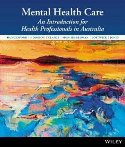 1 of 1 - Mental Health Care: An Introduction for Health Professionals in Australia by...