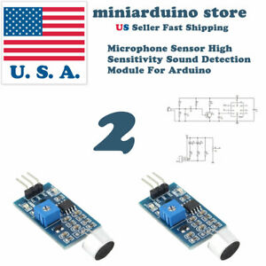 Details about 2pcs High Sensitivity Sound Microphone Sensor Detection  Module 3 pin For Arduino