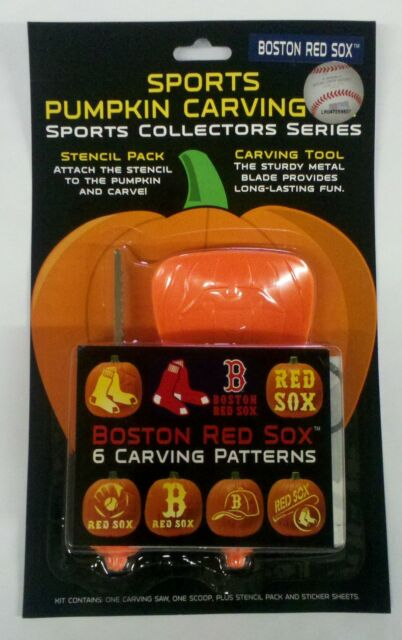 Boston Red Sox Halloween Pumpkin Carving Kit Patterns Ebay