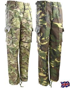 KOMBAT UK KIDS TROUSERS CHILDRENS ARMY CLOTHING UNIFORM CADET CAMOUFLAGE CARGOS