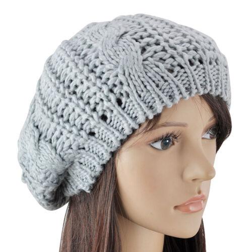 Womens Hat Wool Knit Beanie Ladies Warm Caps Winter Crochet Hats Ski Hats