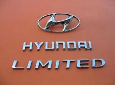 06 07 08 09 10 11 HYUNDAI AZERA LIMITED REAR LID CHROME EMBLEM LOGO BADGE SET #2