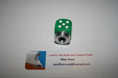 Hot Rod Air Cleaner T bucket Green Dice with White Pips Air Cleaner Nut