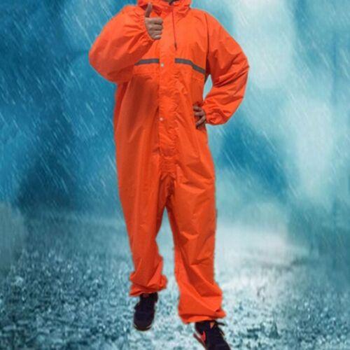 Adulte Imperméable Coupe-vent Siamois vêtement de MOTO Combinaison Pluie Unisexe Vêtements de pluie