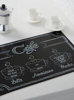 2 French Cafe Paris Style Theme Table Place Mats Kitchen Decor Coffee Espresso