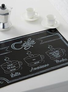 4 FRENCH Cafe PARIS Style Theme Table PLACE MATS Kitchen Decor COFFEE ESPRESSO