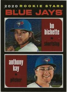 2020-Topps-Heritage-BO-BICHETTE-ANTHONY-KAY-Chrome-081-999-Blue-Jays-RC-Rookie