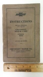 1924-CHEVROLET-Owner-039-s-Manual-Good-Condition-US