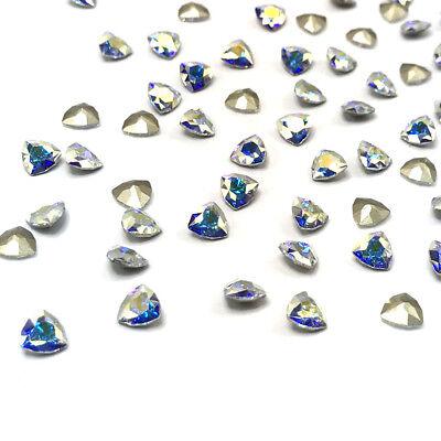 4 pcs swarovski 4706 trilliant fancy stones 7mm nail art