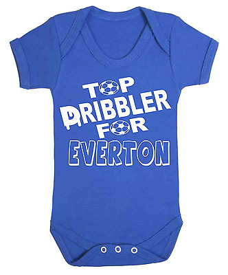 Top Dribbler for Everton Baby Vest  Babygrow Football Baby Vests
