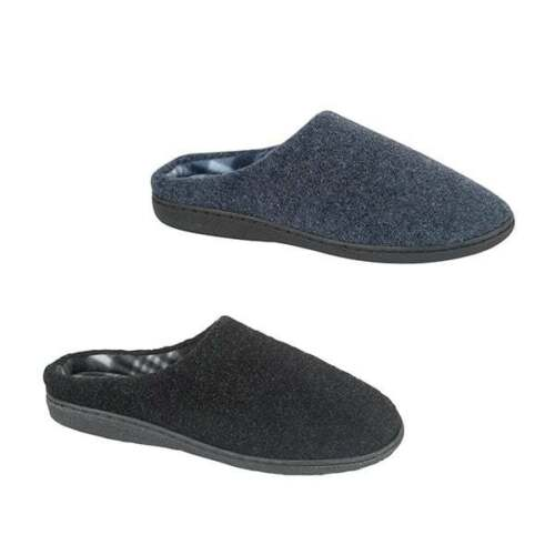 Zedzzz TONY Mens Cosy Memory Foam Extra Comfort Slip On Warm Mule Slippers