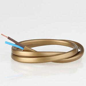 Pvc Lampen Kabel Elektrokabel Leuchten Kabel Gold 2 Adrig 2x0 75 Flach Leitung Ebay