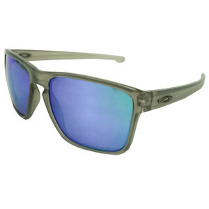 Oakley Men's Sliver XL Polarized Sunglasses Matte Grey Ink/Sapphire Iridium