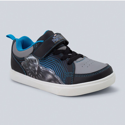Black//Blue Marvel Youth Boys/' Black Panther Superhero Light Up Sneakers