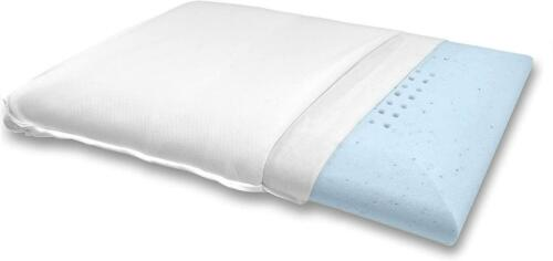 Bluewave Bedding Super Slim Gel Memory Foam Pillow For Stomach And Back Sleepers