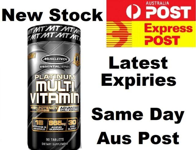 Muscletech Platinum Multivitamin 90 Caps Advanced Multi Vitamin (NEWEST FORMULA)