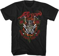 80's Ride Like The Wind Poison Glam Hair Metal Rock Band Licensed Adult T-shirt