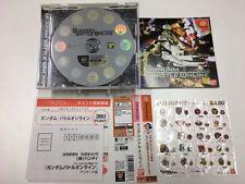 Sega Dreamcast Gundam Battle Online JAPAN JP GAME z386