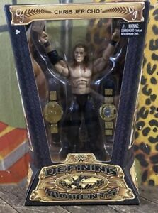 WWE Mattel Chris Jericho Elite Figure Defining Moments  Legend AEW Signed COA