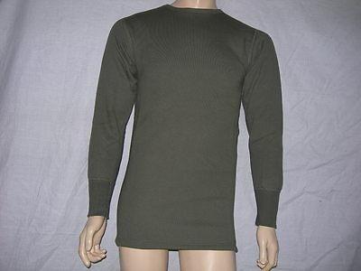 L//XL TRES CHAUD NEUF molletonné 100/% coton SWEAT-SHIRT POLAIRE Vert kaki