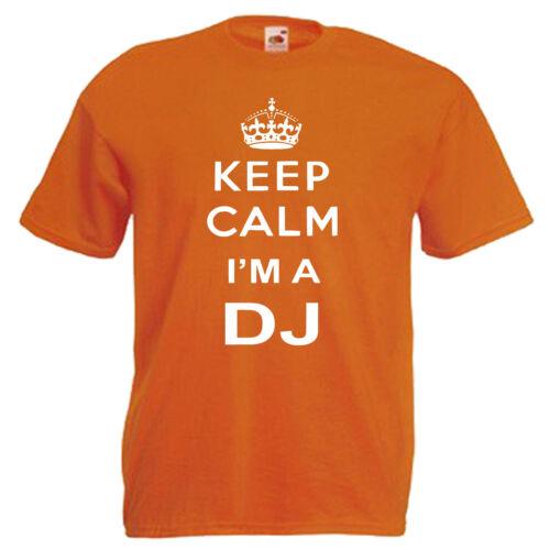 Keep Calm DJ Children/'s Kids T Shirt