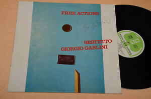 GIORGIO GASLINI SESTETTO LP 1°ST ORIG ITALY JAZZ 1977 NM ! AUTOGRAFATO SIGNED !