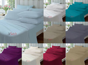 """Finest Quality Percale 100% Egyptian Cotton Extra Deep Fitted 40CM 16""""Sheets"""