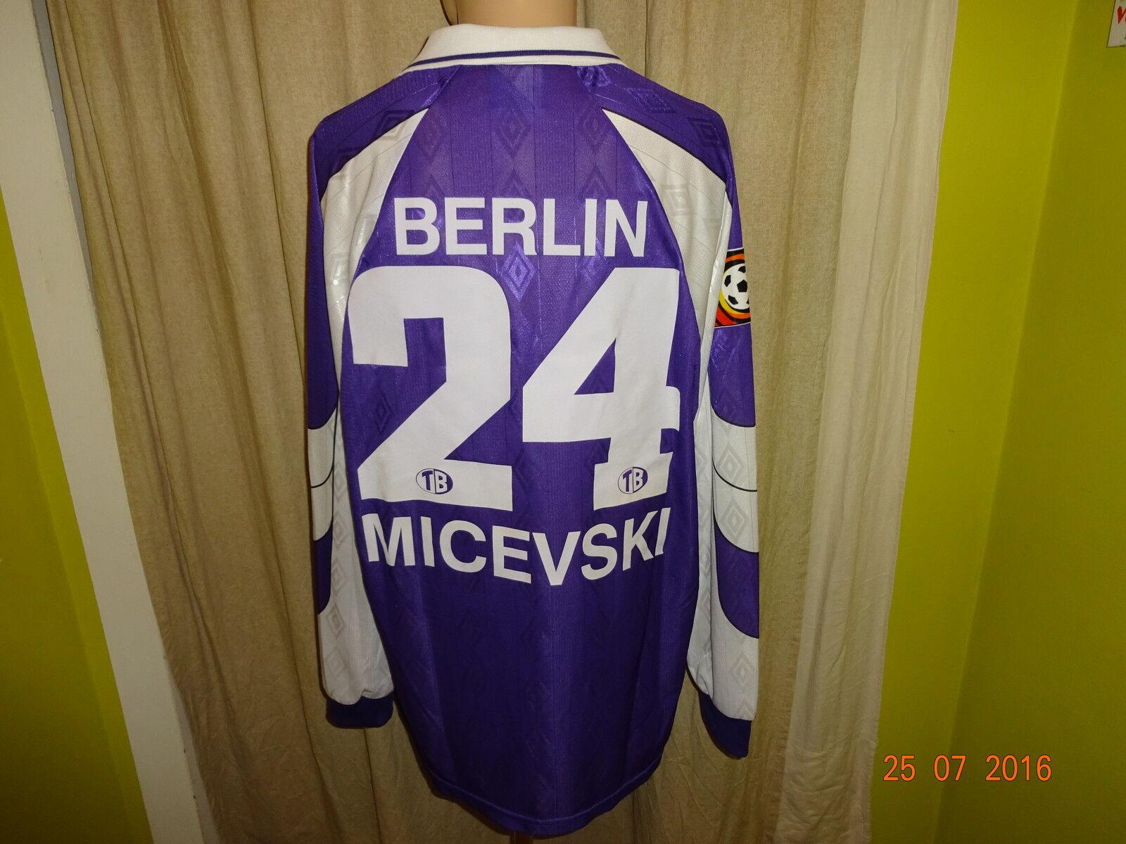 Tennis Borussia Berlin umbro Trikot Matchworn Trikot umbro 1998/99 + Nr.24 Micevski Gr.XL c7ce64