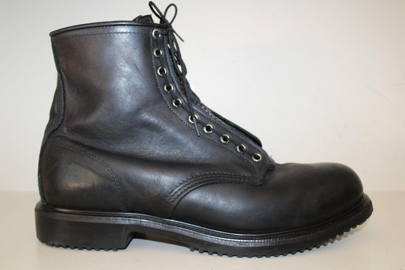 rojo Wing Para hombre botas Sz 14 Acero Dedo Táctica Militar Tobillo de Cuero Negro 7