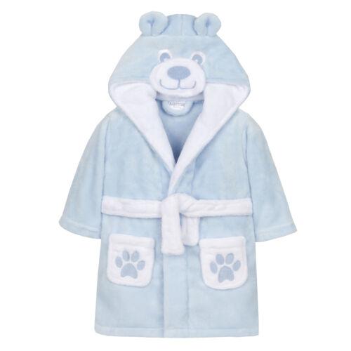 Bébé Filles /& Garçons Teddy Bear Peignoir Robe de Chambre Fantaisie Polaire en Peluche Unisexe