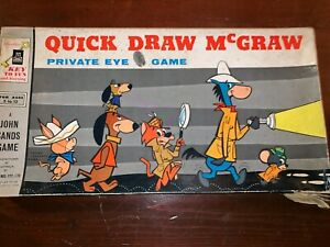 Quick-Draw-McGraw-Private-Eye-Game-1962-COMPLETE