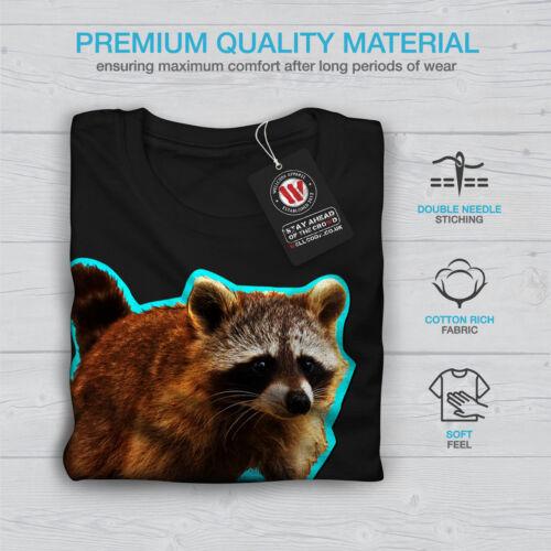 Innocent Graphic Design Wellcoda Racoon Beast Cute Mens Long Sleeve T-shirt